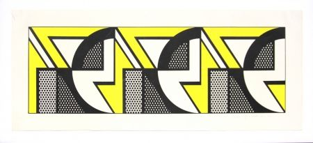 Lithograph Lichtenstein - Repeated design