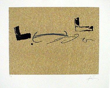Lithograph Tàpies - REPERTORIO DE JUNIO