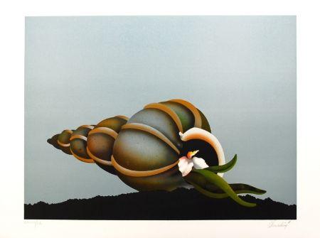 Lithograph Donadini - Repos marin