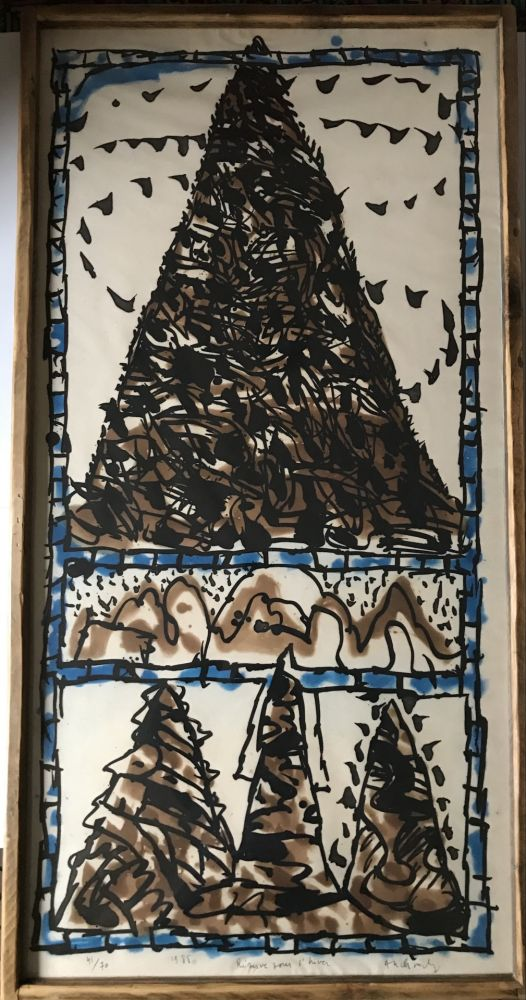 Etching And Aquatint Alechinsky - Reserve pour l'hiver