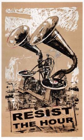 Screenprint Kentridge - Resist The Hour