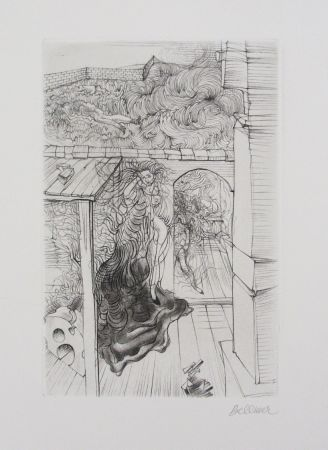 Etching And Aquatint Bellmer - Retable