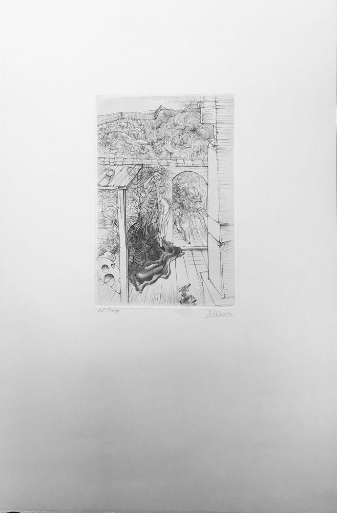 Engraving Bellmer - Retable (1971)