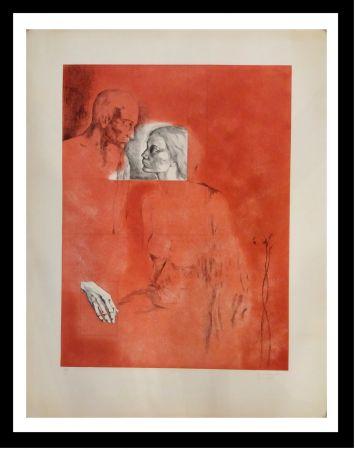 Etching Gudiol - Retrato