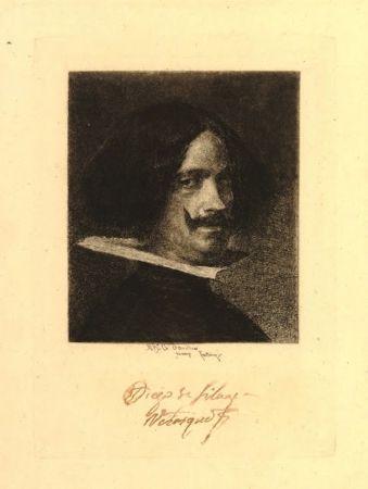 Etching Fortuny I Marsal - Retrato de Velázquez
