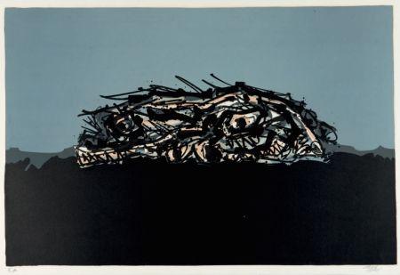 Lithograph Saura - Retrato imaginario de Goya