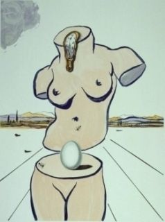 Lithograph Dali - Retrospective II : The Birth of Venus (Torso)
