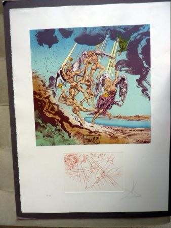 Lithograph Dali - Return Of Ulysses (Homage To Homer)