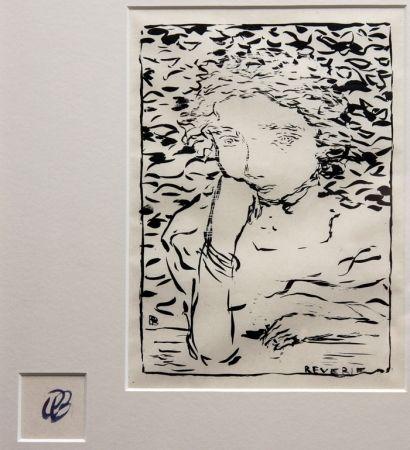 Lithograph Bonnard - Reverie