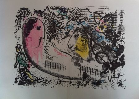 Lithograph Chagall - Reverie