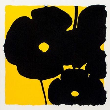 Screenprint Sultan - Reversal Poppies-Yellow