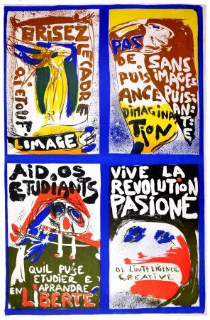 Lithograph Jorn - (Revolution plakat)