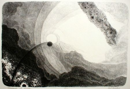 Lithograph Hoeckner - Rhapsody of Light