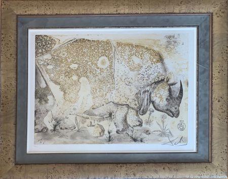 Etching Dali - Rhinoceros