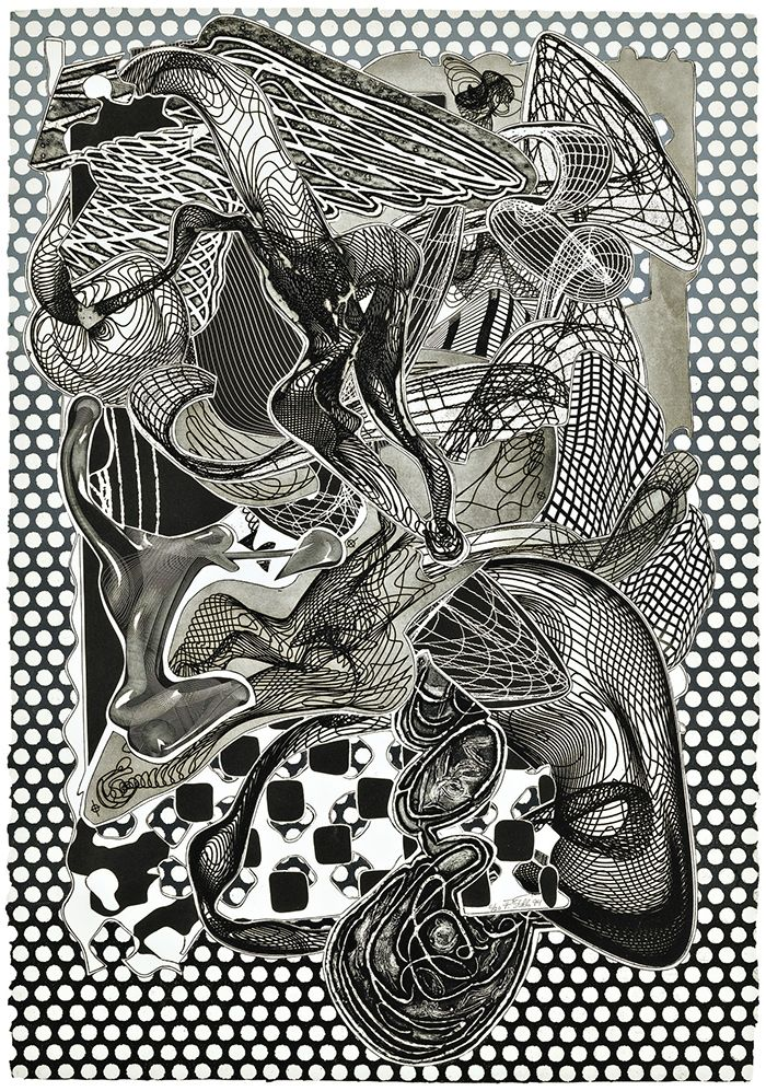 Screenprint Stella - Riallaro (Black and White), from the Imaginary Places Series