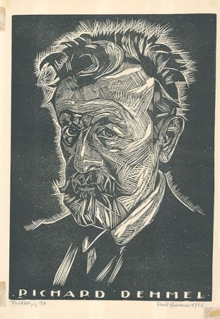 Woodcut Hamann - Richard Dehmel