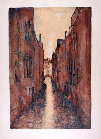 Lithograph Gantner - Rio à Venise