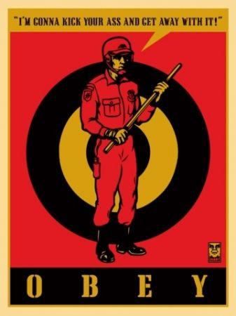 Screenprint Fairey - Riot Cop, Large Format