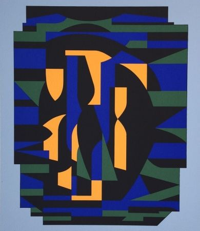 Screenprint Vasarely - Risir, from Ion Album
