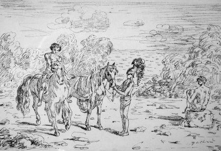 Lithograph De Chirico - Ritorno alla sponda di Corinto