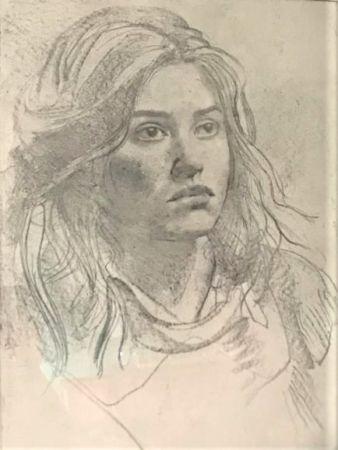 Engraving Annigoni - Ritratto
