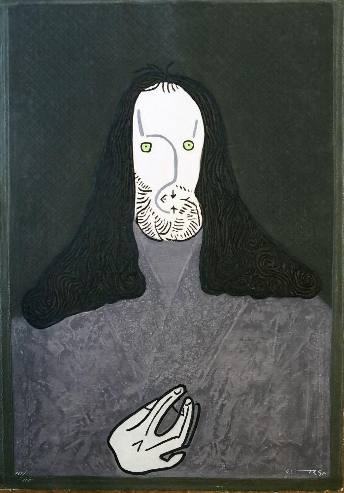 Engraving Ortega - Ritratto mistico di monaco