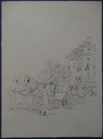 Engraving Foujita - Rivière enchantée - AutoportraitLe Fouquets