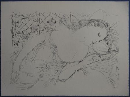 Engraving Foujita - Rivière enchantée - Le rêve
