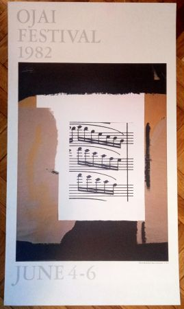 Poster Motherwell - Robert Motherwell ojai festival 1982
