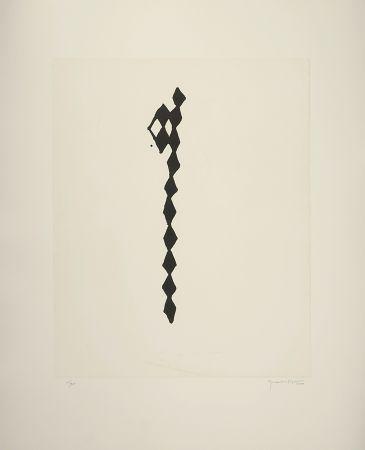 Engraving Hernandez Pijuan - Rofe Negro Iv