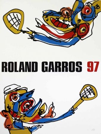Screenprint Saura - Roland Garros 97