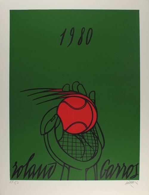Lithograph Adami - Roland Garros (vert)