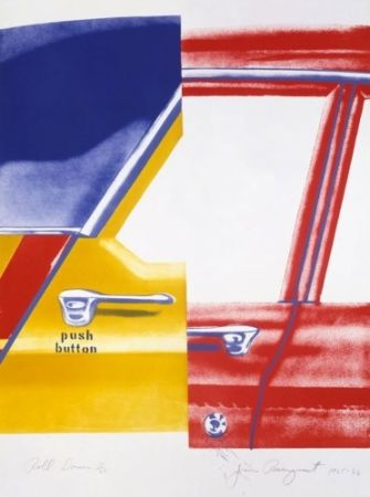 Lithograph Rosenquist - Roll Down