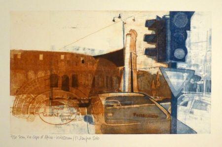 Engraving Staufner - Rom, Via Kapo d'Africa – Kolosseum
