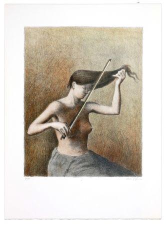 Lithograph Olivier O - Romances Muettes (Le menuet des poux)
