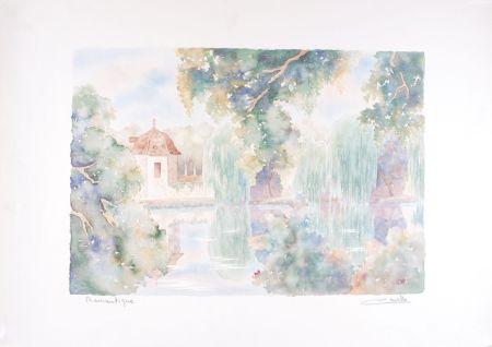 Lithograph Cavalle - Romantique