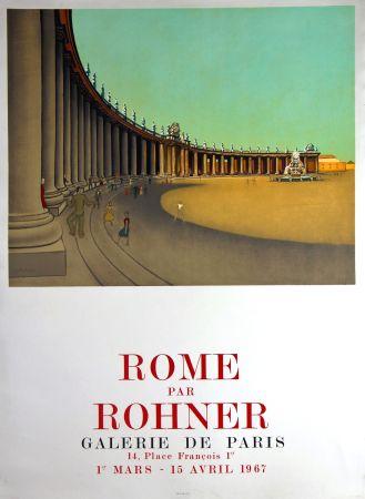 Lithograph Rohner - Rome  Galerie de Paris