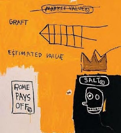 Screenprint Basquiat - Rome pays off