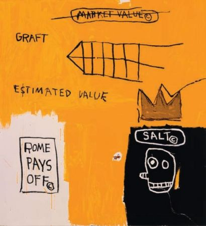 Screenprint Basquiat - Rome Pays Off