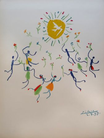 Lithograph Picasso - Ronde de la jeunesse (The Youth Circle)