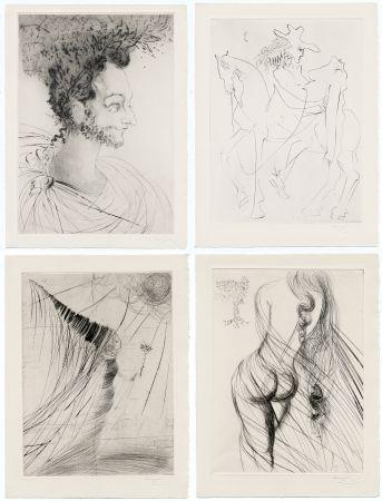 Illustrated Book Dali - Ronsard : LES AMOURS DE CASSANDRE. 18 pointes-sèches originales. 1968.
