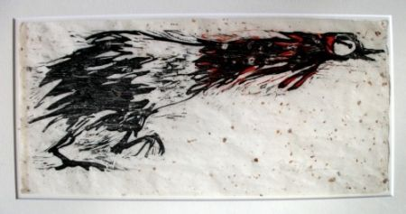 Woodcut Nauman - Rooster