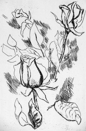 Engraving Guttuso - Rosa