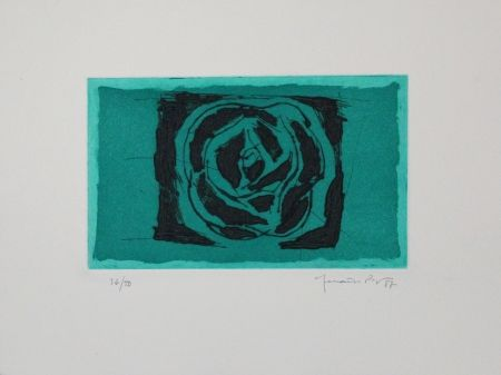 Etching And Aquatint Hernandez Pijuan - Rosa verda / Green Rose