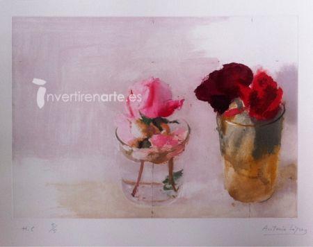 Etching López Garcia - Rosas de invierno 1