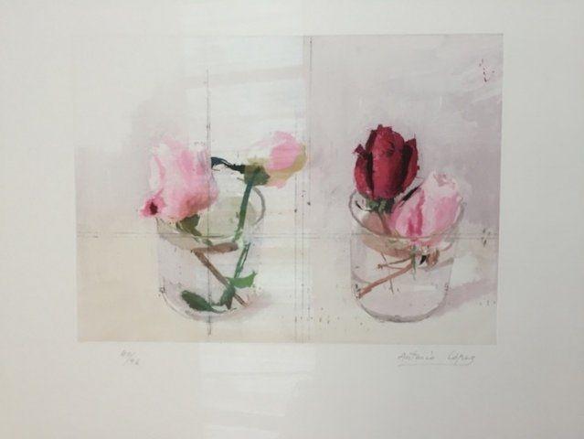 Etching Lopez - Rosas de invierno I