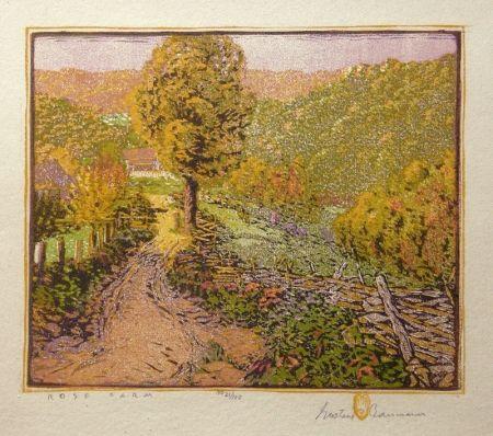Woodcut Baumann - Rose Farm