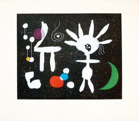 Etching Miró - Rose Matinale au Claire de Lune
