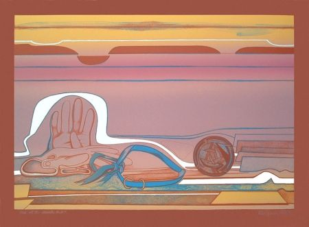 Lithograph Gilot - Rose of the Desert