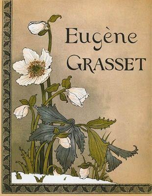 Lithograph Grasset - Roses de Noël / Christmas Roses